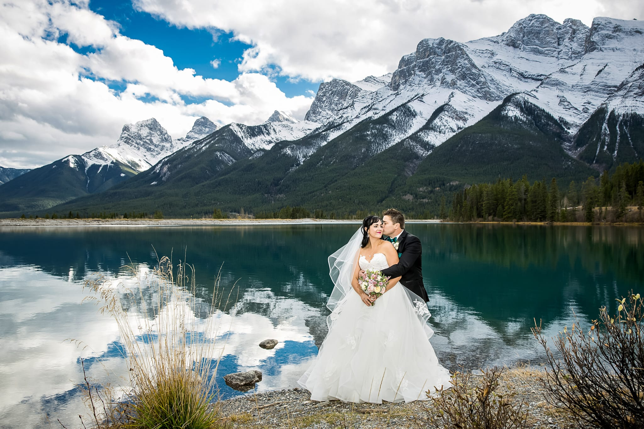 Winter wedding Rocky Mountains