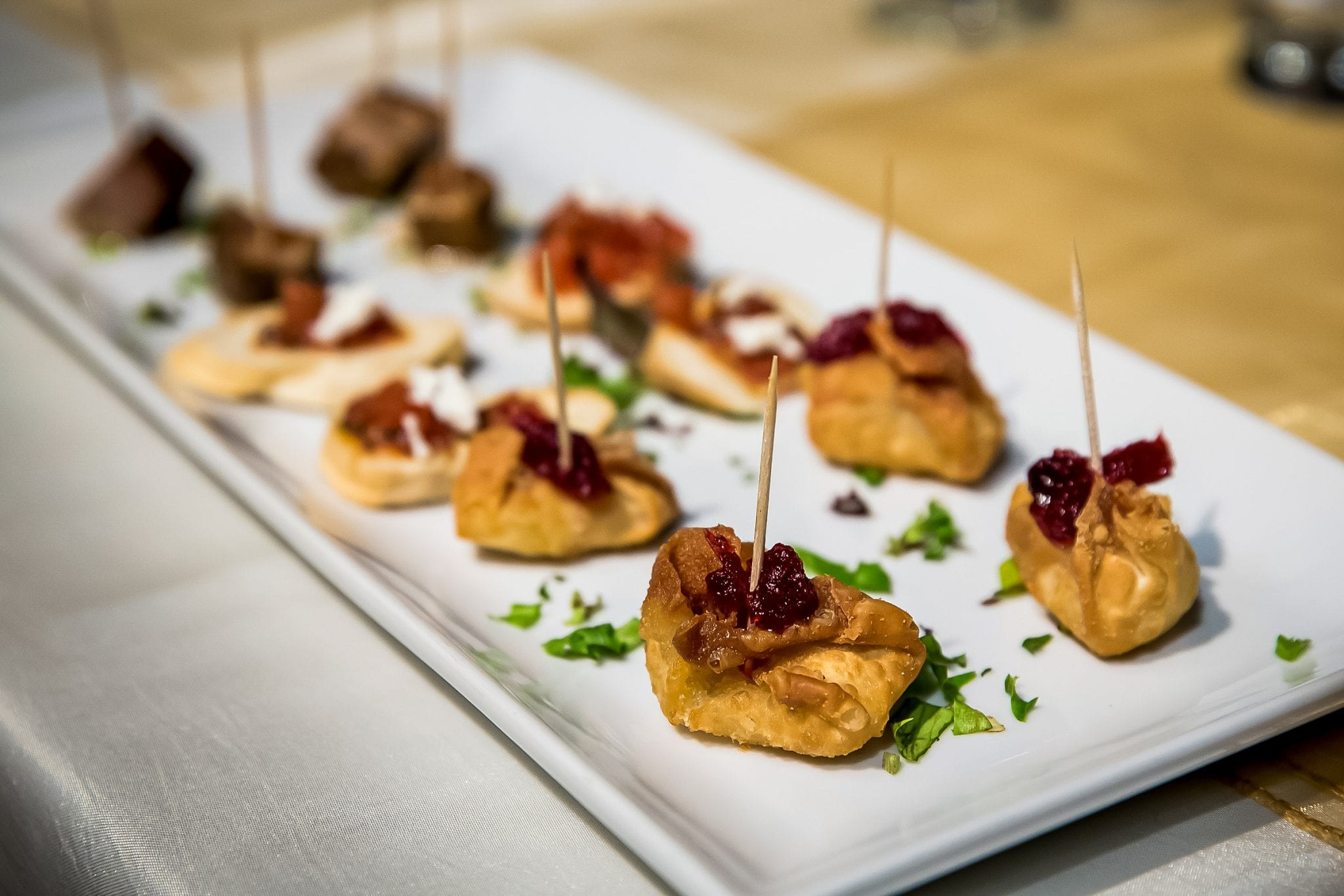 Appetizers - baked brie - Photo credit Kim Payant Photography
