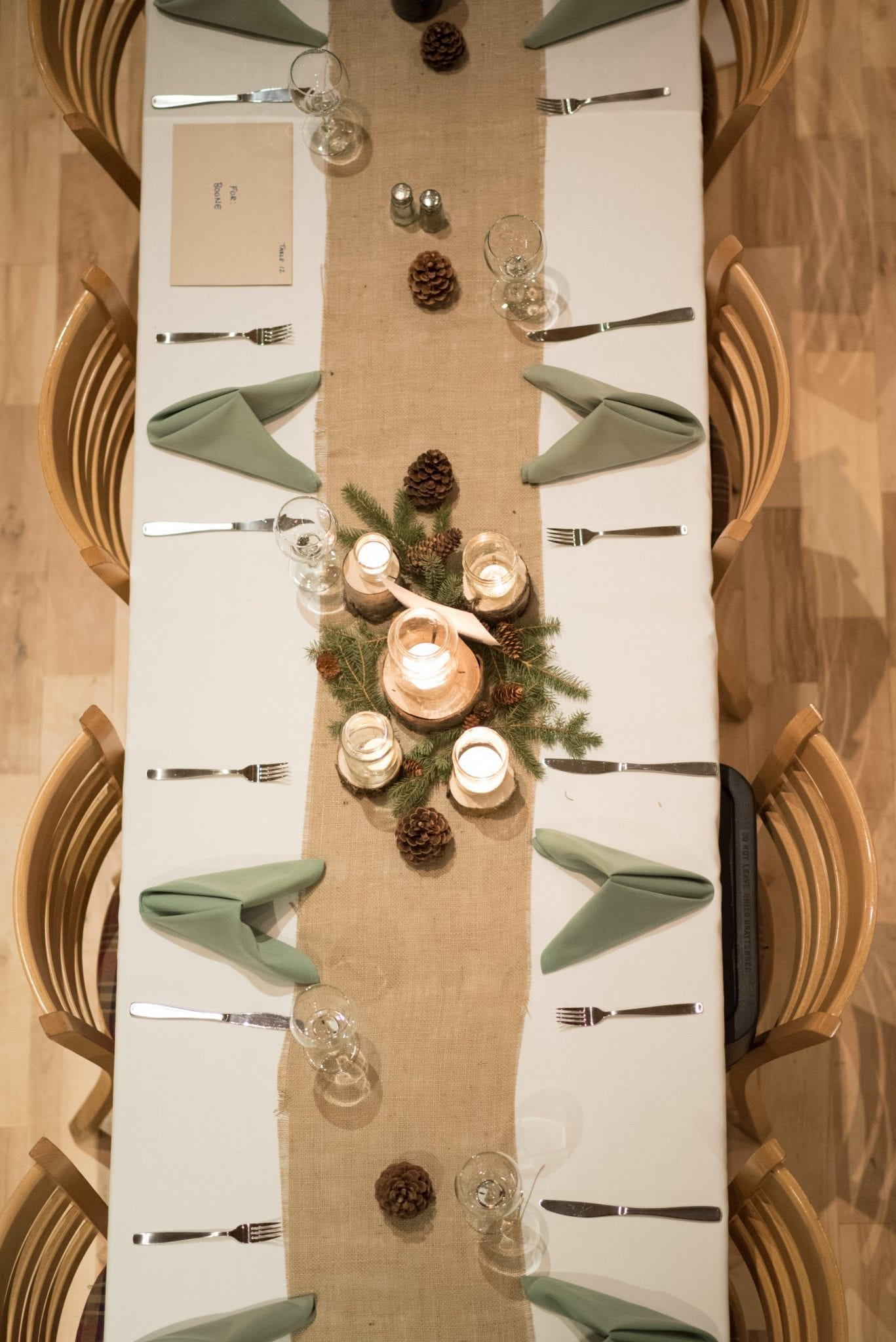 Table birdseye view - Photo credit Andrew Snucins Photography