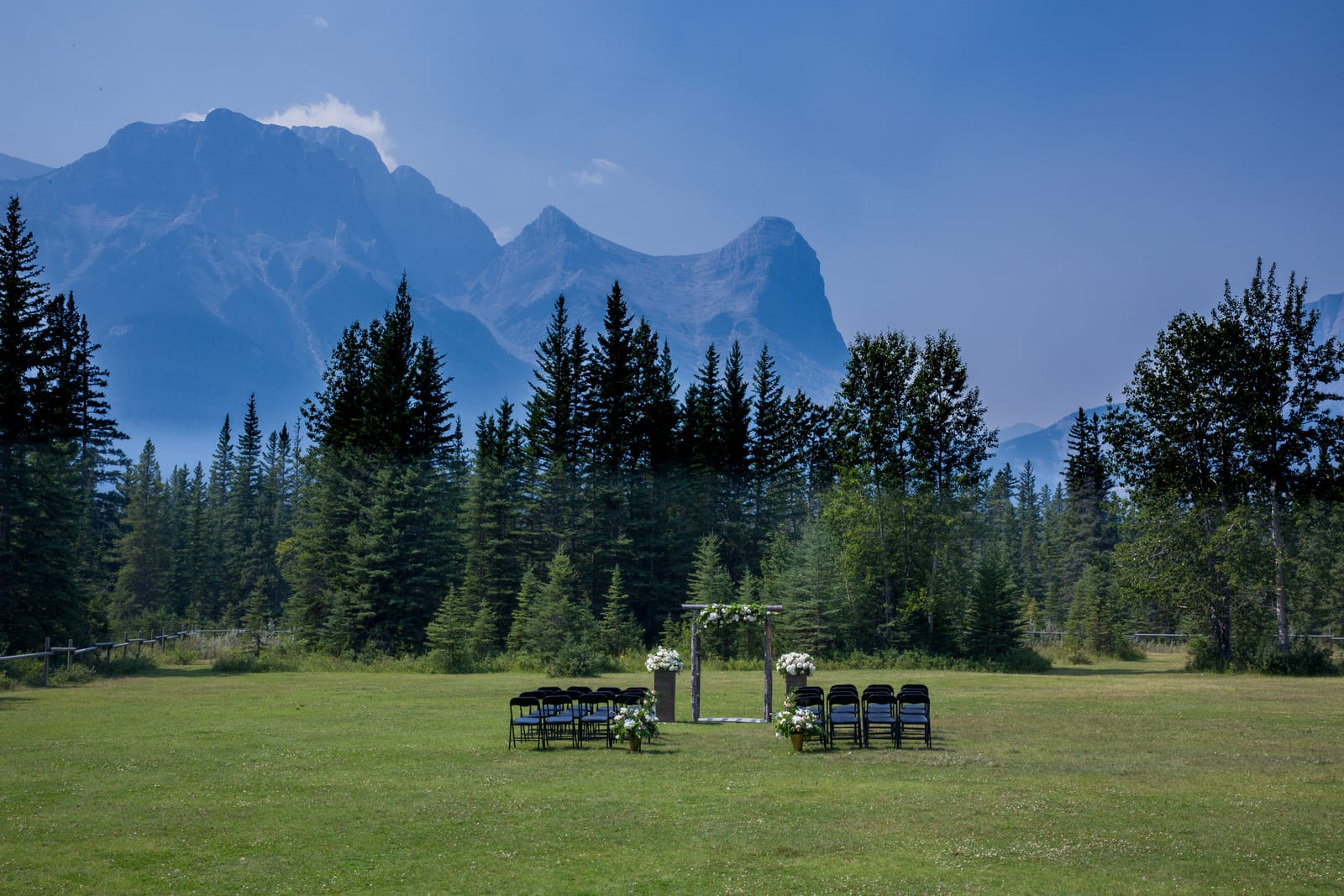 Canmore Ranch Outdoor Wedding Ceremony