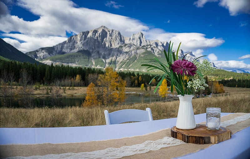 Alberta Outdoor Wedding Ceremony
