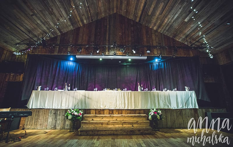 head table cornerstone weddings canmore