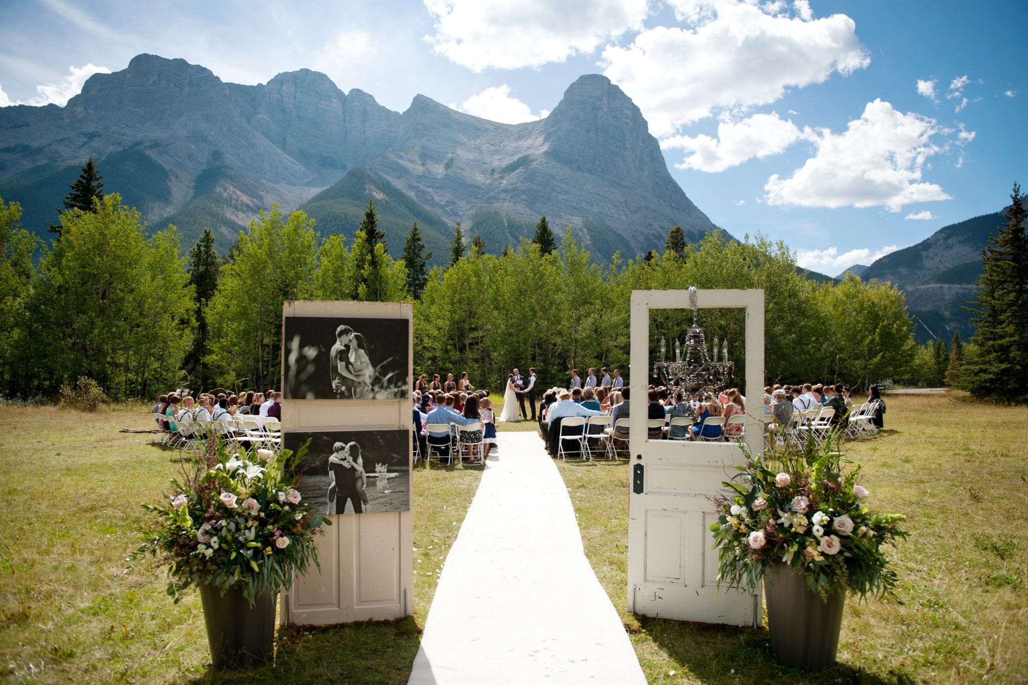 popular outdoor ceremony site location canmore