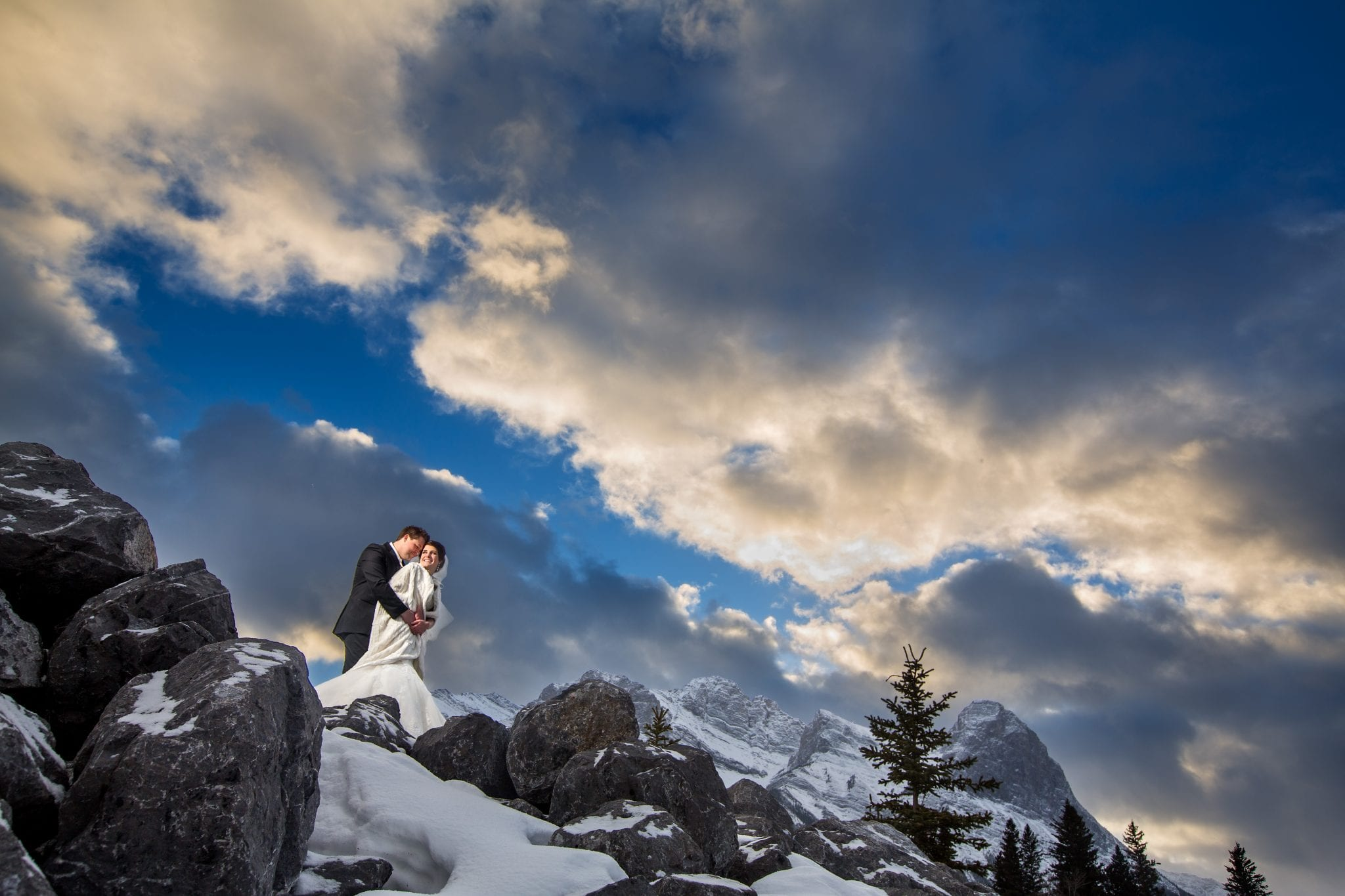 winter weddings alberta